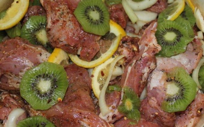 Рецепт маринададля шашлыка с киви и лимоном