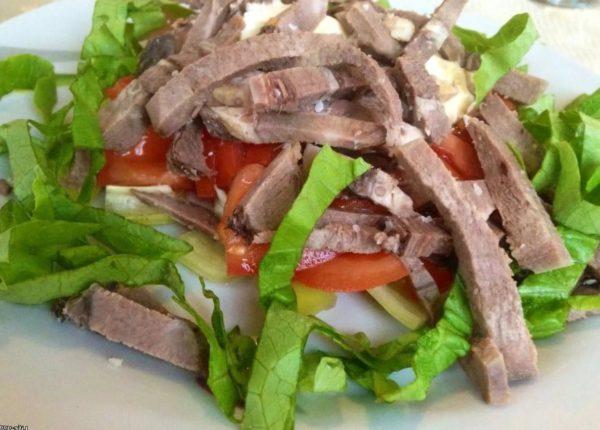 Рецепты салатов с говядиной и маринованными огурцами